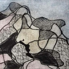 Gedanken VI; Farbradierung; © A.Maier