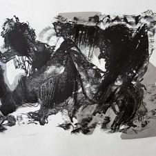 Die Gedanken sind frei II; Lithographie; © A.Maier